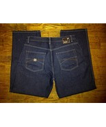 Pelle Marc Buchanan Hip Hop Urban Baggy Dark Navy Blue Denim Jeans Pants... - $44.99