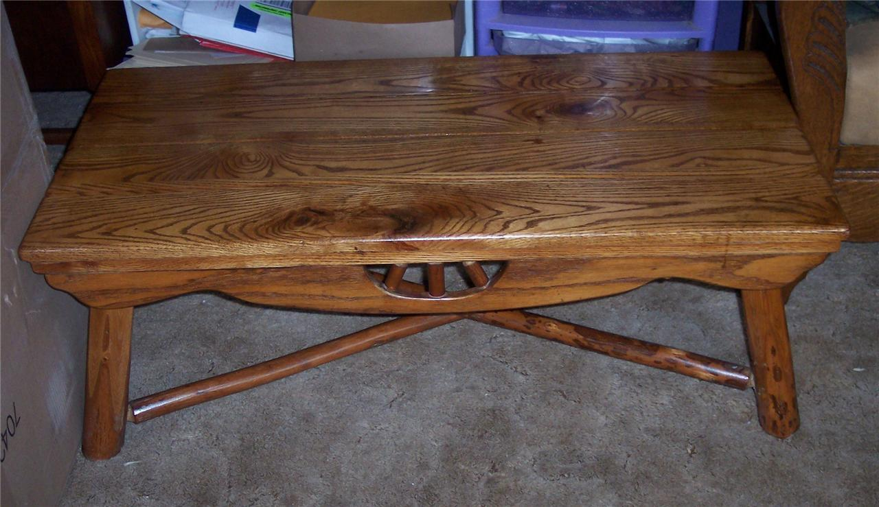 Solid Oak Ranch Style Coffee Table CT And Similar Items - Ranch style table