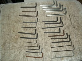 """28 Pc Lot """" L """" Shaped Allen Wrench Hex Keys Assortment Must See - $13.37"""