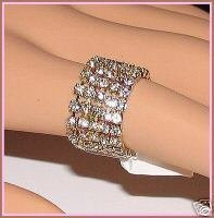 Primary image for New Eternity Ring w/Crystals Stack Stretch 7-8