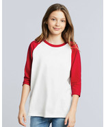 Gildan 3/4 Sleeve Baseball Raglan T Shirt Boys Girls Kids Youth Spports GD249 - $16.99