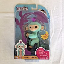 Fingerlings Interactive Toy ZOE Turquoise Baby Monkey WowWee - NEW - $24.74
