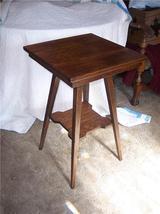 Solid Quartersawn Oak Mission 2 Tier Lamp Table - $399.00