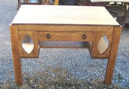 Solid Quartersawn Oak Mission Desk Library Table - $1,095.00