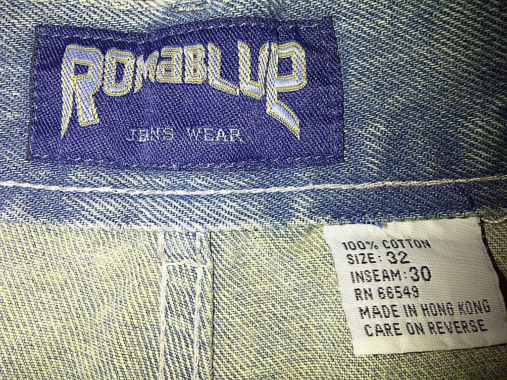 Romablue Hip Hop Urban Baggy Light Sky Baby Blue Faded Denim Jeans Pants 32/30