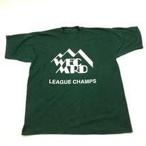 VINTAGE WECMRD Mountain Recreation Shirt Size Large League Champs Tee 80... - $30.20