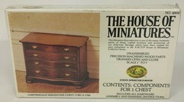NEW The House of Miniatures Chippendale Serpentine Chest No. 40050 SEALED - $9.89