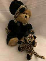 "Boyds Bears Gen Yoo Wine 8"" Cheetah Print Dressed Bear - $23.36"