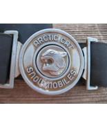 Vintage Arctic Cat snowmobile belt buckle lost replacement for suit Adult Black - $20.00