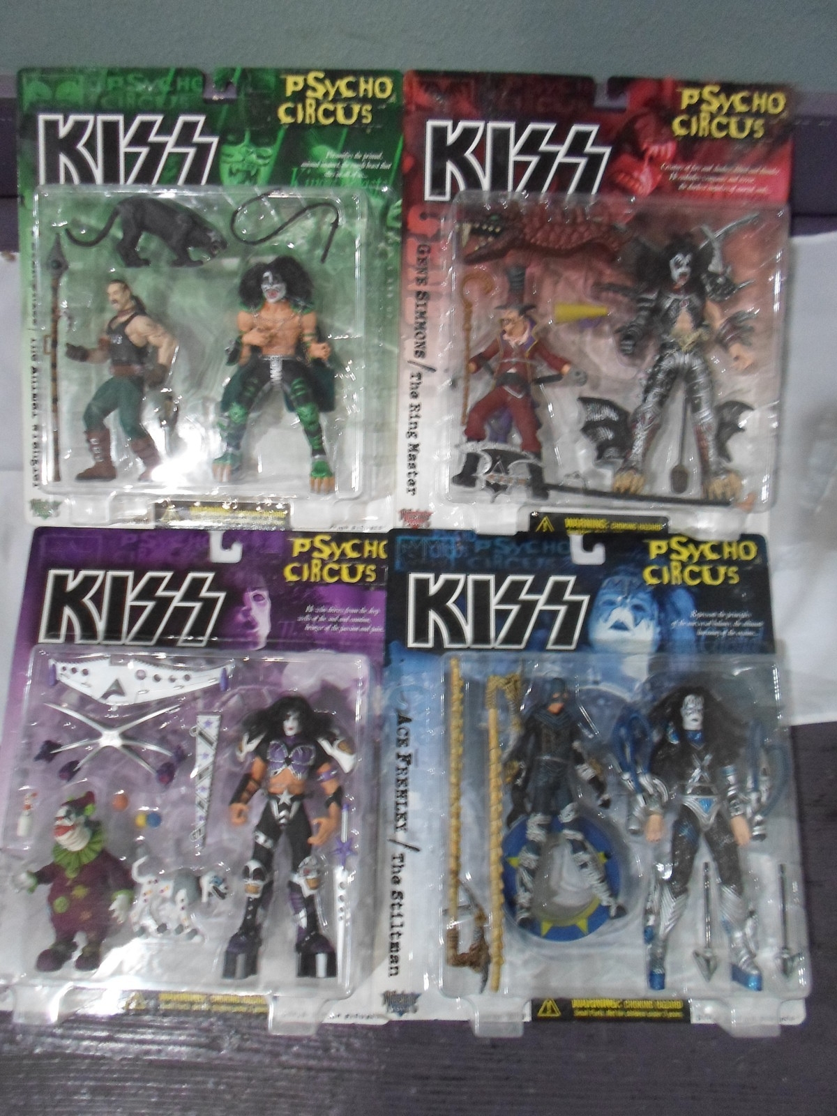 Primary image for McFarlane Toys Kiss Psycho Circus Peter, Gene, Ace, Paul 4 Figure Set 1998 - new