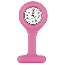TRIXES Nurses Fob Watch Pink Gel Silicone Plastic by - $7.91