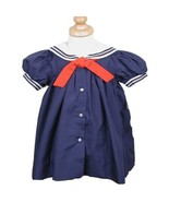 Classic Dressy Petit Ami Navy Sailor Baby or Toddler Girl Dress Boutique - $445,55 MXN+