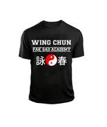 Wing Chun Pak Sao AcademyT-Shirt Black tee Chinese Kung Fu martial arts ... - $19.95+