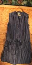 Caslon, Nordstrom, Blue geometric sleeveless drop waist dress, size M - $23.00