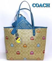 COACH Ms Pac-Man Tote Bag, Wristlet Pouch & Keychain Set NWT - $295.02