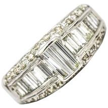 1.50 Carat Baguette Diamond 18k White Gold Band Ring - $1,975.05