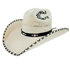 Men's Western Hat Rio Bravo Sombrero 20X Horseshoe Horma Texas Bangora Bone - €46,10 EUR