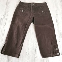 Girls Size 10 Candies Brown Capri Cropped Pants - $9.69