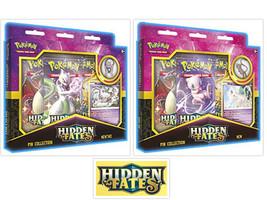 Pokemon Hidden Fates Mew & Mewtwo Pin Collection Bundle 2 Boxes TCG  - $47.95