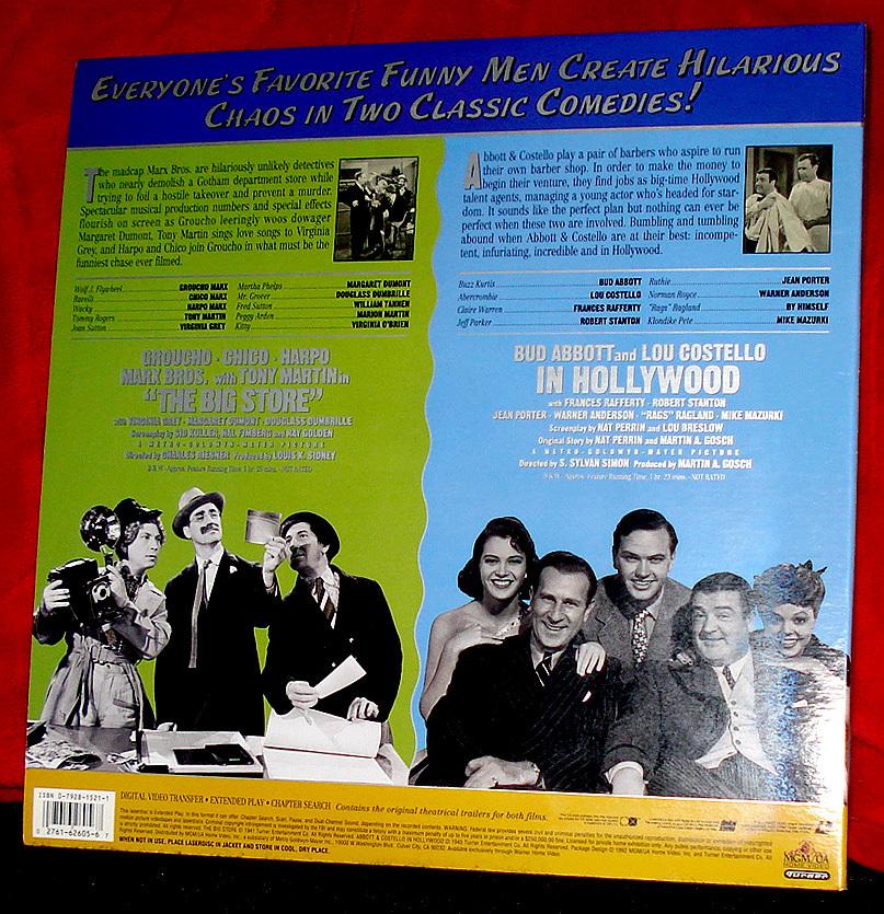 Abbott & Costello Meet 'Hollywood' & the Marx Bros. on Hilarious Laser Disc Set