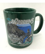 Harley Davidson Motorcycles Warren's Salinas California Green Coffee Mug... - $31.85