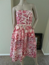 David Meister VTG Retro Novelty Pinup Floral Tea Boat Print Easter Dress 2 S - $132.99