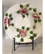 Decorative Floral Plate with Stand - $80.00
