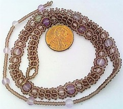 Pale Amethyst Beaded Daisy Chain Necklace - $16.99