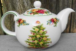 Royal Albert Old Country Rose Christmas Teapot - $49.99