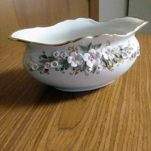 Gravy Boat Fenix Porcelain Hand Made Kislovodsk Russia Attached Delicate Flowers image 1