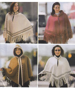 CAPES and PONCHOS With or Without Hood Szs S M L UNCUT Sewing Pattern - $9.84