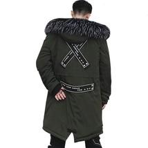 MANNAN Autumn Winter Jacket Men Hoodie Men Warm Coats Parkas Men Long St... - $90.34