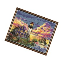 Lighthouse Sunset, 11 X 14 Counted Cross Stitch Kit, Multi-Colour - $54.99