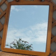 Antique Mirror With Heavy Wood Frame 23 x 28 - $28.71