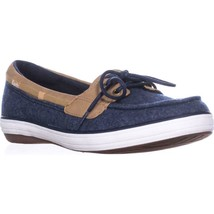 Keds Glimmer Lace Up Boat Shoes, Navy, 6.5 US / 37 EU - $28.79