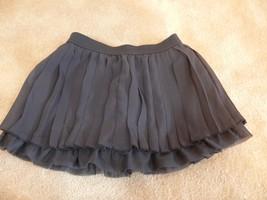 Crazy 8 Black Layered Pleated Skirt Girls Size XS 3-4 dg - $6.50
