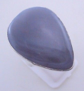 Primary image for 11 Gr Botswana Agate Stone Silver Overlay Handmade Jewelry Ring Size 9.5