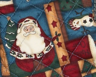 Country christmas santa snowman quilted christmas 15 for Charles craft christmas stockings