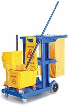 Janitorial Sanitation Kit, Cleaning Cart, Wet Floor Sign, Mop Handle and... - $292.95