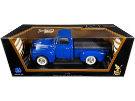 1948 Ford F-1 Pickup Truck with Bed Cover Dark Blue 1/18 Diecast Model Car by Ro - $63.82
