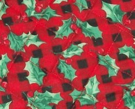 Holly leaves quilted christmas 15 cross stitch stocking for Charles craft cross stitch fabric