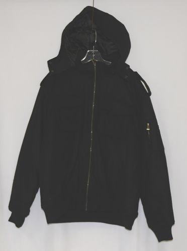 Trust Brand WB170J Wool Nylon 2XL Black Coat Zippered Hooded