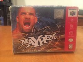 WCW Mayhem Nintendo 64 N64 Video Game 1999 NIB Electronic Arts NIP Wrest... - $40.83