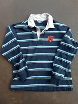 Vintage Nike men's long sleeve pullover striped shirt LARGE Fast Free Ship - $19.49
