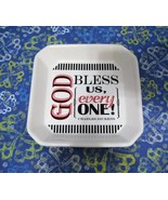 Ceramic Tidbit Tray By Living Quotes Charles Dickens GOD BLESS US EVERY ... - $18.76