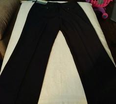 "Liz Claiborne Petite ""Audra"" Stretch Bootcut Striped Black Pants Size 8P... - $18.42"