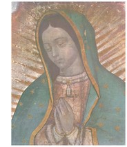"""Our Lady of Guadalupe - Picture 6""""x 8"""" - """"Bust"""" Image with white broader"""