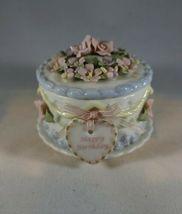 San Francisco Music Box Co. Anna Rosa Collection Happy Birthday cake tri... - $42.99