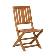 Armless Folding Chair,  Eucalyptus Patio Furniture Dining Collection - $89.95