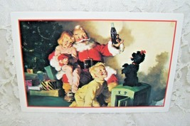 Vintage Coca-Cola Advertisement with Santa Kids and Cocker Spaniel - $11.02